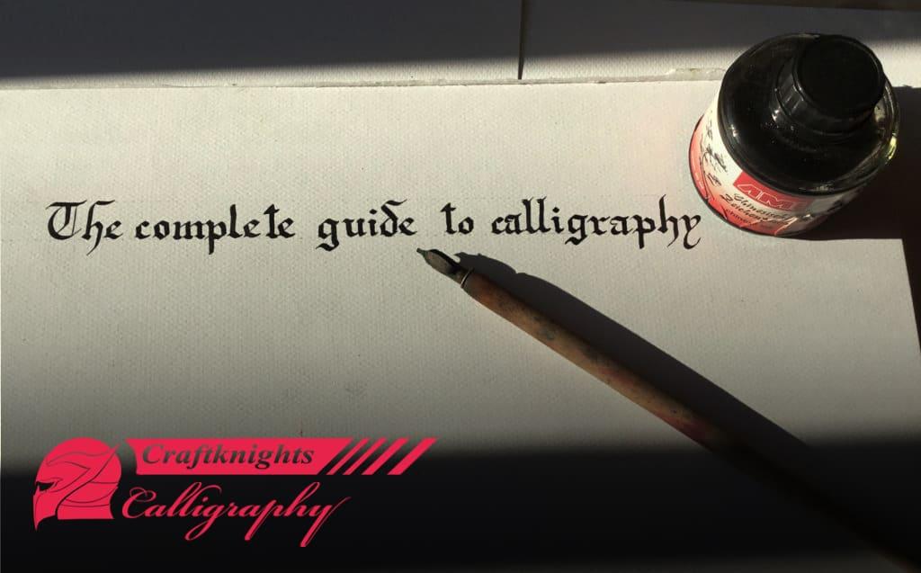 Kalligraphie lernen für Anfänger mit kostenlosen Arbeitsblättern!