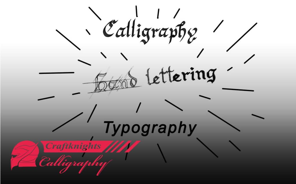 What is the difference between Handlettering, calligraphy, and typography?