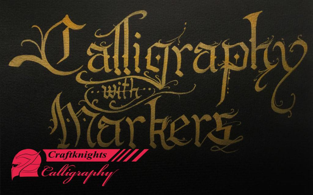 How to do calligraphy with a marker?