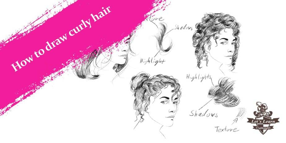 How To Draw Curly Hair With Step By Step Examples