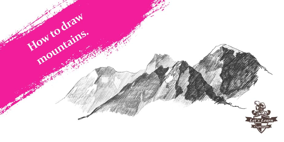 How to Draw realistic Mountains    Step by Step