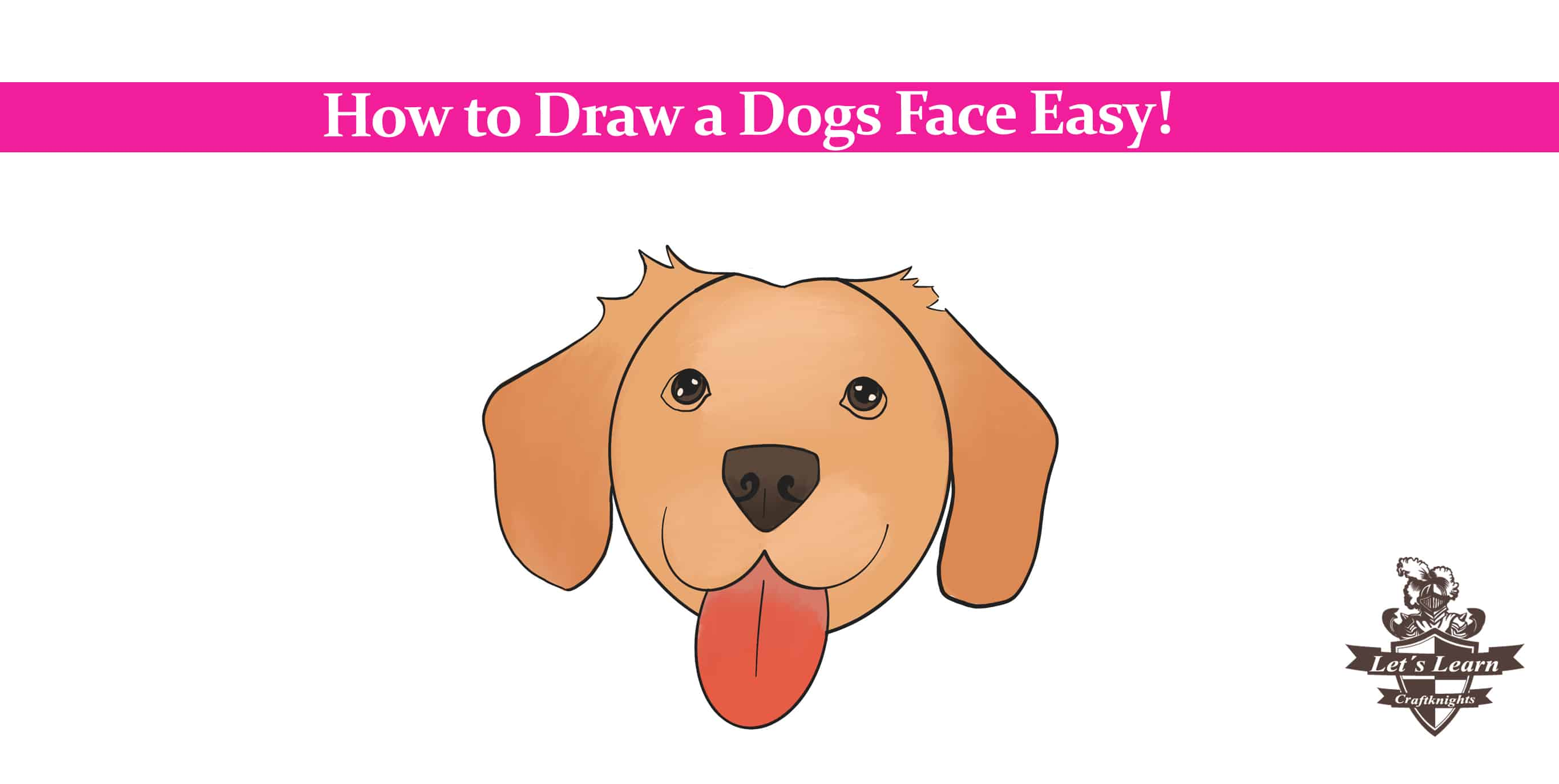How to Draw a Dog Face?    Step by Step