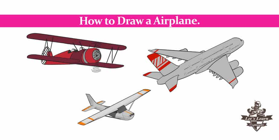 How to Draw an Airplane? || Step by Step Guide