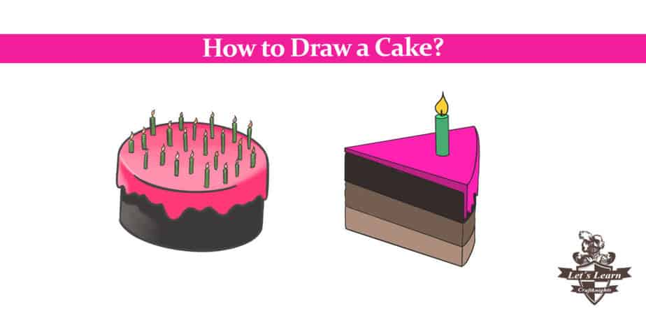 Fine How To Draw A Cake Easy Drawing Guide Craftknights Funny Birthday Cards Online Alyptdamsfinfo