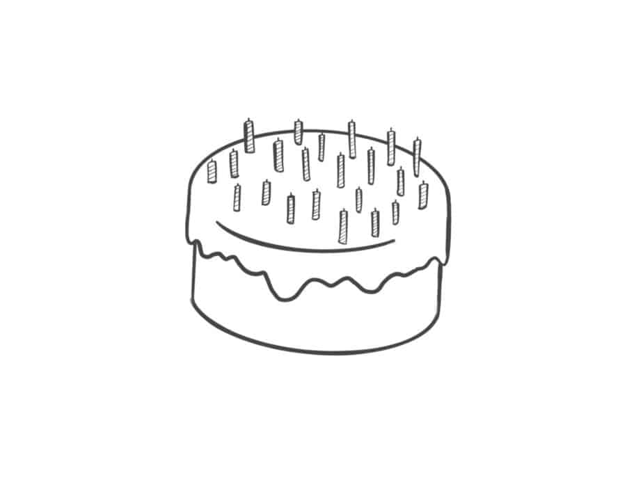 Astonishing How To Draw A Cake Easy Drawing Guide Craftknights Funny Birthday Cards Online Alyptdamsfinfo