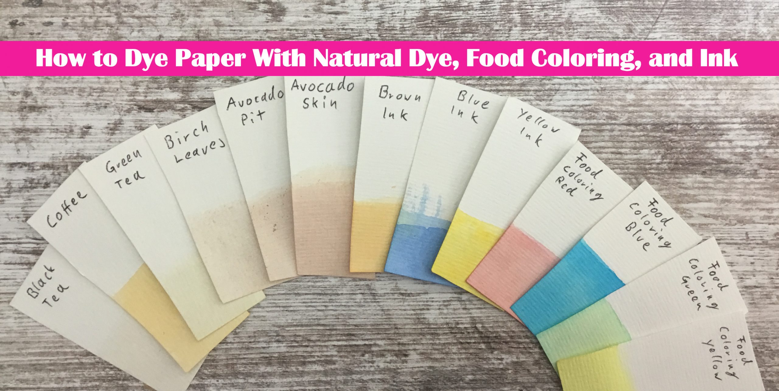 How to Dye Paper With Natural Dye, Food Coloring, and Ink